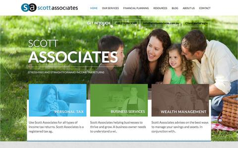Screenshot of Home Page scottassociates.com.au - Scott Associates - captured Oct. 4, 2014
