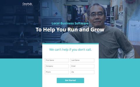 Screenshot of Landing Page dexmedia.com - DexHub | Run and Grow Your Busines - captured May 9, 2017