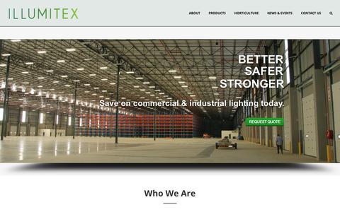 Screenshot of Home Page illumitex.com - LED Lights and Digital Horticulture Solutions   Illumitex - captured Oct. 28, 2017