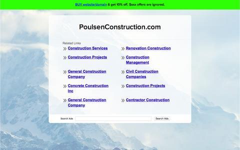 Screenshot of Home Page poulsenconstruction.com - PoulsenConstruction.com - captured Nov. 9, 2016