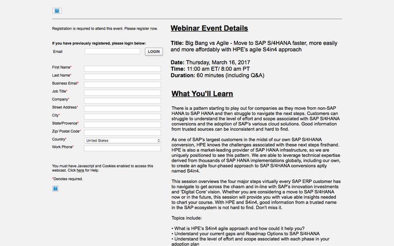 Event Registration (EVENT: 1378568 - SESSION: 1)