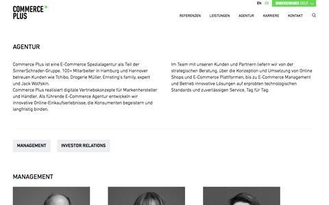 Screenshot of Team Page commerce-plus.com - Agentur Commerce Plus - captured Sept. 19, 2014