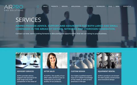 Screenshot of Services Page airpro.ie - Air Pro - captured Sept. 30, 2014