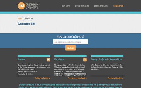 Screenshot of Contact Page renouncreative.com - Contact Us - Renoun Creative - captured Sept. 30, 2014