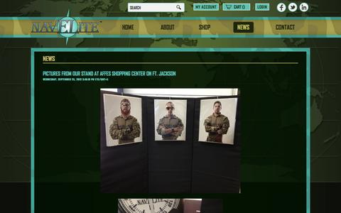 Screenshot of Press Page navelite.com - News - captured Oct. 26, 2014