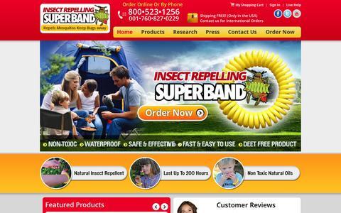 Screenshot of Home Page bugbutton.com - Bug Repellent | Insect Repellent Bracelets - captured Sept. 30, 2014