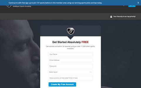 Screenshot of Signup Page intelligentbettingtips.com - Step 1: Free Member Account | IntelligentBettingTips.com - captured Oct. 12, 2018