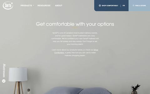 Screenshot of Products Page serta.ca - Serta | Products - captured July 12, 2019