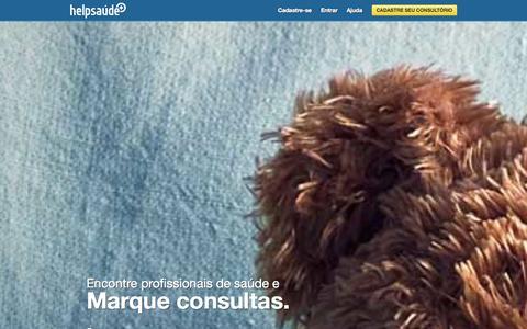 Screenshot of Home Page helpsaude.com - HelpSaúde: Marque consulta com médicos, dentistas, psicólogos e mais! - captured Sept. 16, 2014