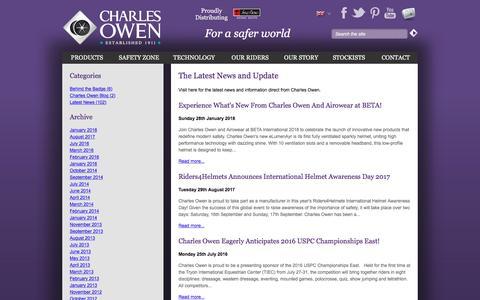 Screenshot of Blog charlesowen.com - News and Blog| Charles Owen | - captured July 2, 2018