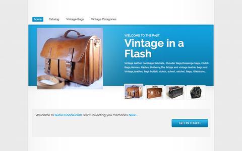 Screenshot of Home Page suziefloozie.com - Vintage handbags, Vintage leather bags school satchels, Vintage leather handbags Gladstone Handbags leather - captured April 10, 2017