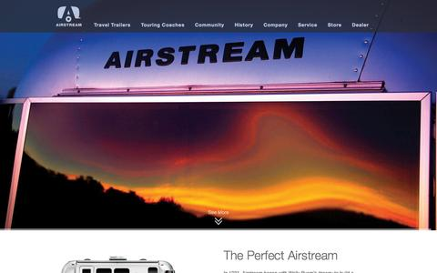 Screenshot of Home Page airstream.com - Airstream USA, Airstream Travel Trailer, Silver Bullet | Airstream - captured Sept. 19, 2014