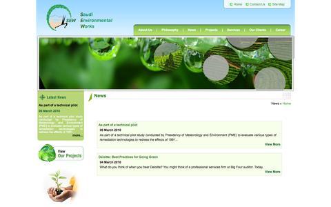 Screenshot of Press Page sewltd.com.sa - Welcome To Saudi Environmental Works - captured Oct. 6, 2014