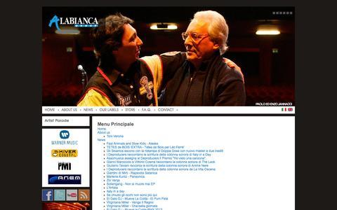 Screenshot of Site Map Page alabianca.it - Ala Bianca Group - captured Oct. 4, 2014