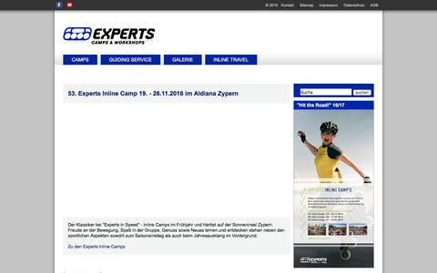 Screenshot of Home Page experts-in-speed.de - ::::: EXPERTS IN SPEED :::::: Startseite - captured June 6, 2016