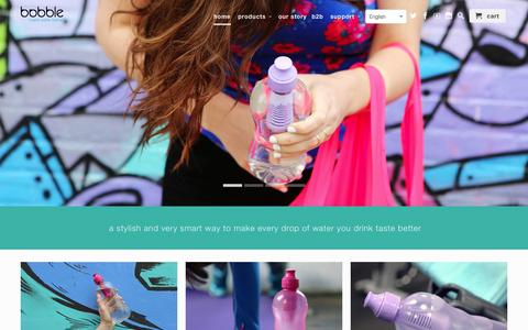 Screenshot of Home Page waterbobble.nl - waterbobble - captured Sept. 5, 2015
