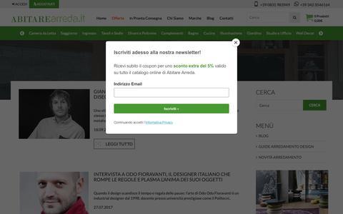 Screenshot of Blog abitarearreda.it - Blog | ABITAREarreda.it - captured Oct. 2, 2018
