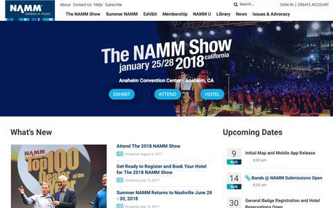 Believe in Music | NAMM.org