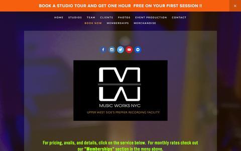 Screenshot of Home Page musicworksnyc.com - Music Works - captured Feb. 26, 2016
