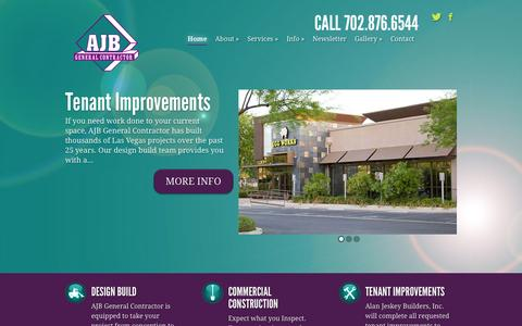 Screenshot of Home Page ajbuilders.com - AJB General Contractor - where vision becomes a reality - captured Oct. 4, 2014