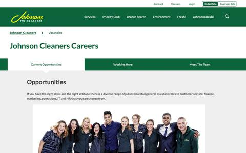 Screenshot of Jobs Page johnsoncleaners.com - Johnson Cleaners Careers | Johnson Cleaners - captured Jan. 15, 2016