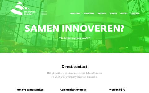 Screenshot of Contact Page innovationquarter.nl - Contact | Innovation Quarter - captured Oct. 29, 2014