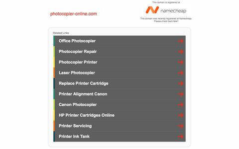 Screenshot of Home Page photocopier-online.com - photocopier-online.com - captured Jan. 23, 2017