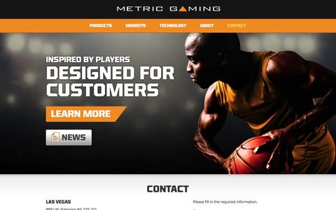 Screenshot of Contact Page metricgaming.com - Contact - Metric Gaming - captured Nov. 17, 2015