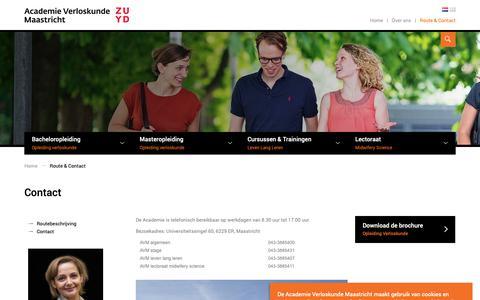 Screenshot of Contact Page av-m.nl - Contact - captured Oct. 2, 2018