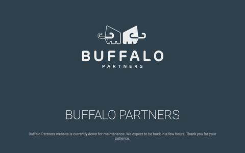 Screenshot of Home Page buffalopartners.com - BuffaloPartners.com - captured May 8, 2018
