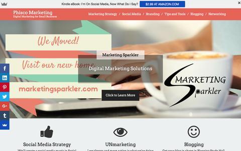 Screenshot of Home Page phiscomarketing.com - Phisco Marketing | Marketing and Social Media Strategy | Atlanta, GA - captured Dec. 9, 2015