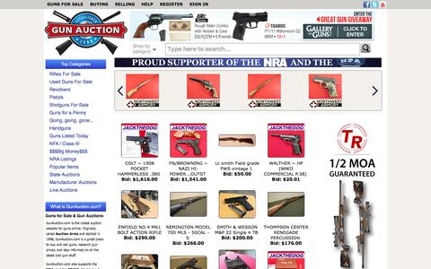 Screenshot of Home Page gunauction.com - Guns For Sale Online at GunAuction.com - Buy New & Used Guns - captured Oct. 29, 2017