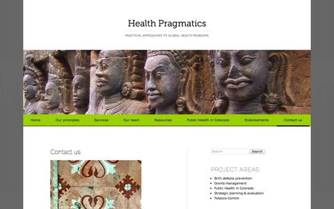 Screenshot of Contact Page healthpragmatics.com - Contact us | Health Pragmatics - captured Oct. 2, 2014