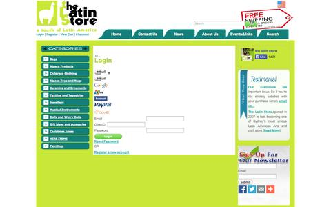 Screenshot of Login Page ezimerchant.com - Login - captured Sept. 23, 2014