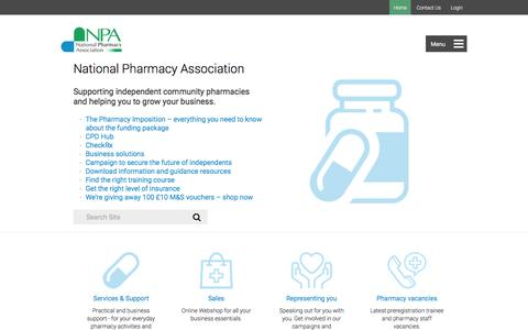 Screenshot of Home Page npa.co.uk - The National Pharmacy Association (NPA) » NPA - captured Nov. 30, 2016