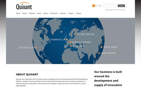 Screenshot of About Page quixant.com - About Quixant - captured May 25, 2017