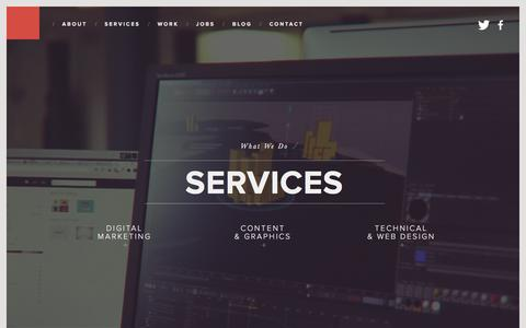 Screenshot of Services Page first10.co.uk - Services - First 10 - captured Dec. 7, 2015