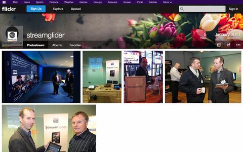Screenshot of Flickr Page flickr.com - Flickr: streamglider's Photostream - captured Oct. 25, 2014