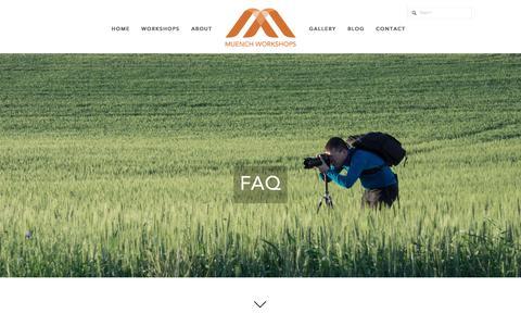 Screenshot of FAQ Page muenchworkshops.com - FAQ — Muench Workshops - captured Aug. 13, 2016