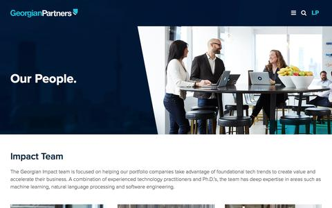 Screenshot of Team Page georgianpartners.com - Meet Our Technical Experts & Investment Professionals | Georgian Partners - captured July 17, 2018
