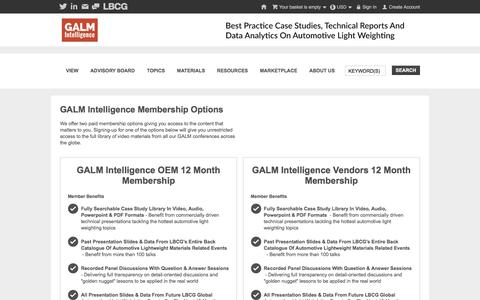 Screenshot of Signup Page galmintelligence.com - GALM Intelligence - GALM Intelligence Membership Options - captured April 13, 2016
