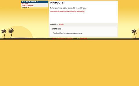 Screenshot of Products Page goodvibez805.com - PRODUCTS - GoodVibeZ - captured Oct. 2, 2014