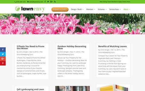 Screenshot of Blog lawnenvy.com - Groundskeeping Guru - Lawn Care Tips | Lawn Envy - captured May 15, 2017