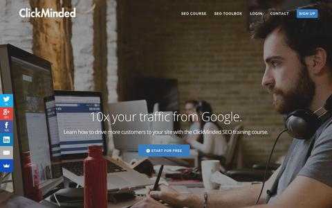 Screenshot of Home Page clickminded.com - SEO Training: The ClickMinded SEO Course  - captured June 18, 2015