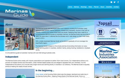 Screenshot of About Page marinasguide.com.au - About | Marinas Guide - captured Oct. 9, 2017