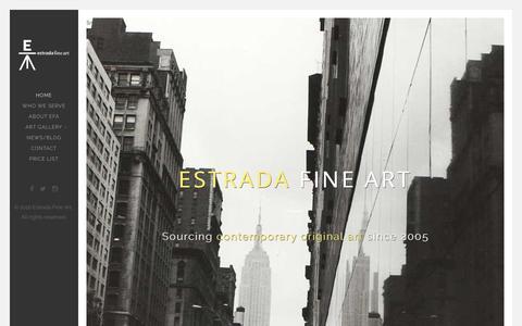 Screenshot of Home Page estradafineart.com - Home - Estrada Fine ArtEstrada Fine Art - captured July 15, 2016