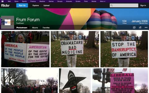 Screenshot of Flickr Page flickr.com - Flickr: FrumForum's Photostream - captured Oct. 23, 2014