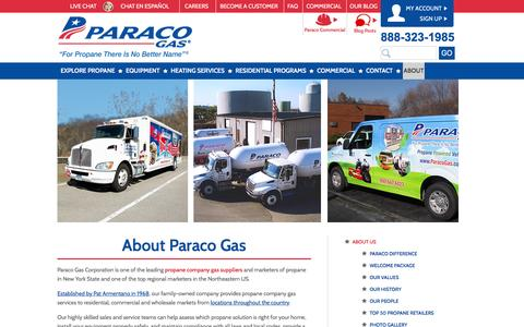 Screenshot of About Page paracogas.com - About Paraco Gas | Propane Company | Paraco Gas - captured Jan. 25, 2016