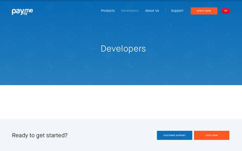 Screenshot of Developers Page payby.me - Developers – Payby.Me - captured Sept. 27, 2018