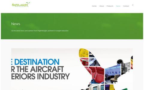 Screenshot of Press Page flightweight.net - News | Flightweight - captured Sept. 30, 2014